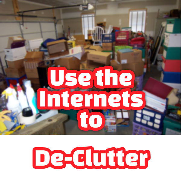 declutter your house using the internet